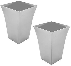 Image Is Loading 2 X Large Milano Tall Planter Square Plastic