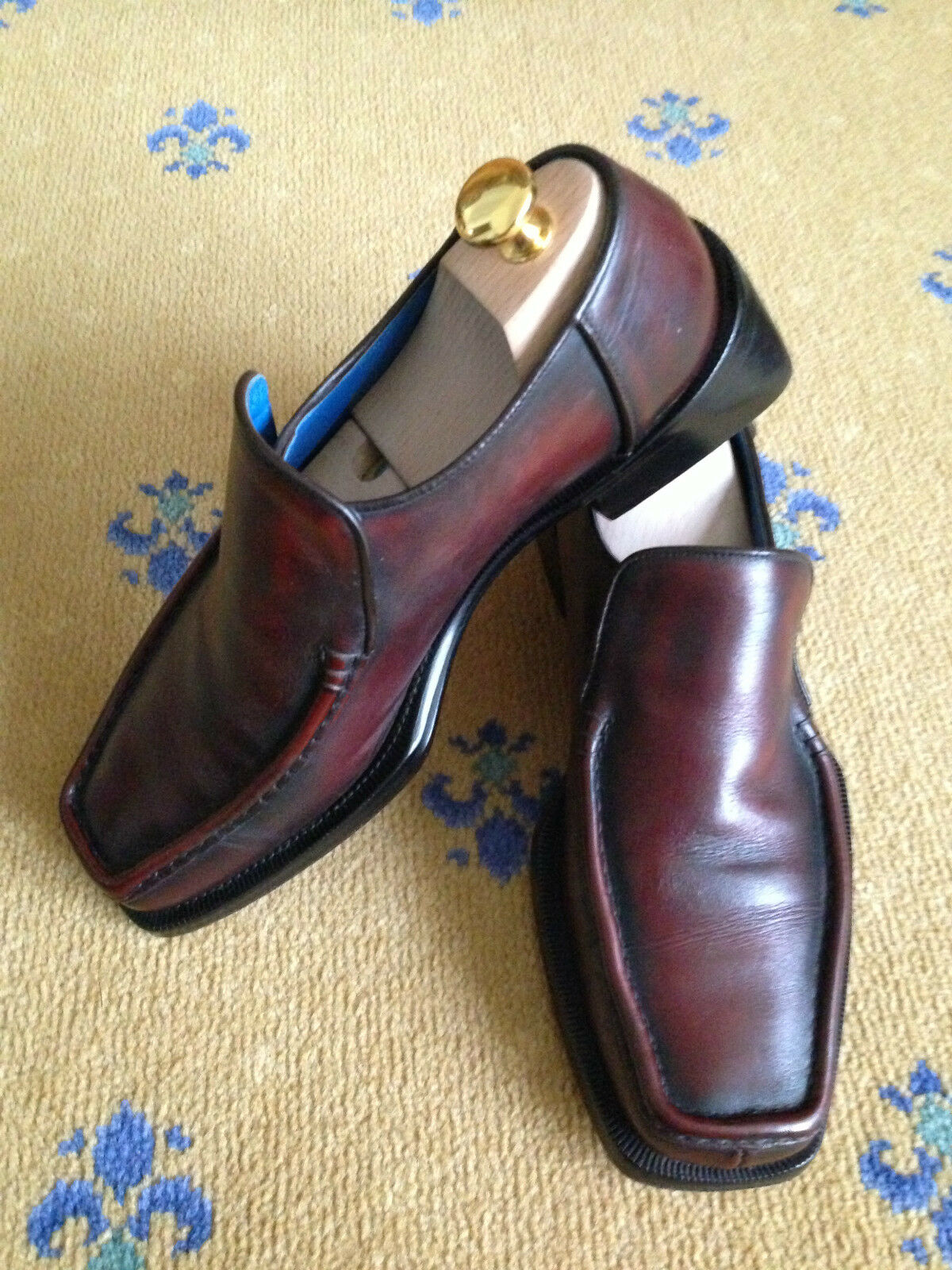 OLIVER SWEENEY MEN'S SHOES BROWN LEATHER LOAFERS MOCCASIN UK 7.5 US 8.5 EU 41.5