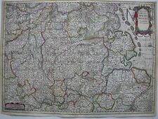 Totius Circuli Westphalici Westfalen kolor Orig Kupferstichkarte Hondius 1630