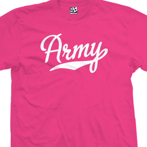 All Size /& Colors Army Script Tail Shirt Sports USA US Military Academy Team