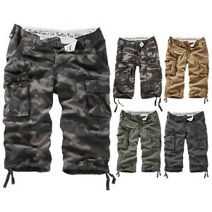 SURPLUS-Raw-Vintage-TROOPER-LEGEND-3-4-Shorts-Rider-Urban-Walk-Army-Military