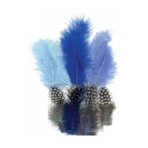 NATURAL GUINEA FOWL FEATHERS UK FREE RANGE BIRDS 2nds x100  Art//Craft//Hobby