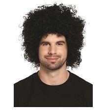Nero Parrucca di capelli afro adulto anni'70 anni'80 discoteca parrucca riccia costume u00 609