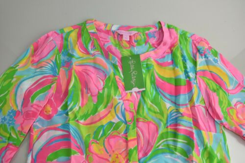New Lilly Pulitzer STACEY TOP MULTI in So a Peeling Pink Green Yellow S M