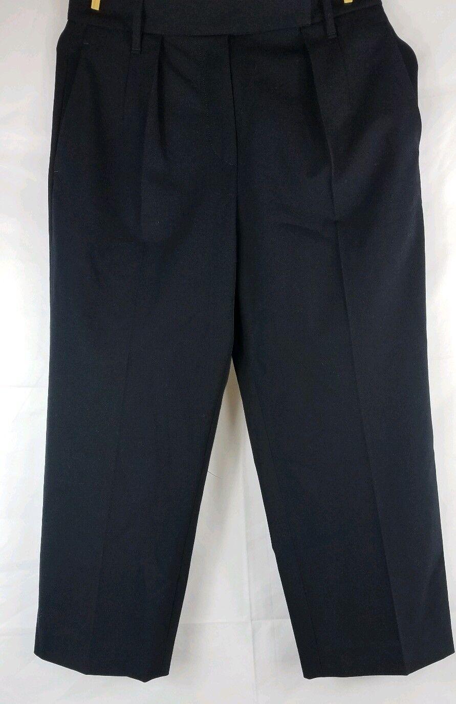 BRUNELLO CUCINELLI Women's Navy bluee Wool Dress Pants Size 40 4  1015