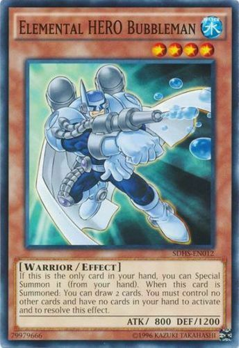 Elemental HERO Bubbleman SDHS-EN012 Unlimited Edition x3 Near Min Common