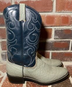 b2d5daa92dc Details about VTG Wrangler USA Made Bull Shoulder Western Cowboy Boots -  Men's Size 10