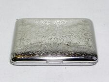 Antique Sterling Silver Chased Art Nouveau Cigarette Vesta Card Case Germany