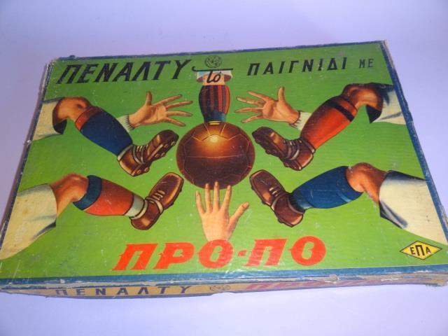 GREECE GREEK BOARD GAMES PENALTY THE GAME  with PRO-PO 1960 Greek Football Soccer  vente de renommée mondiale en ligne