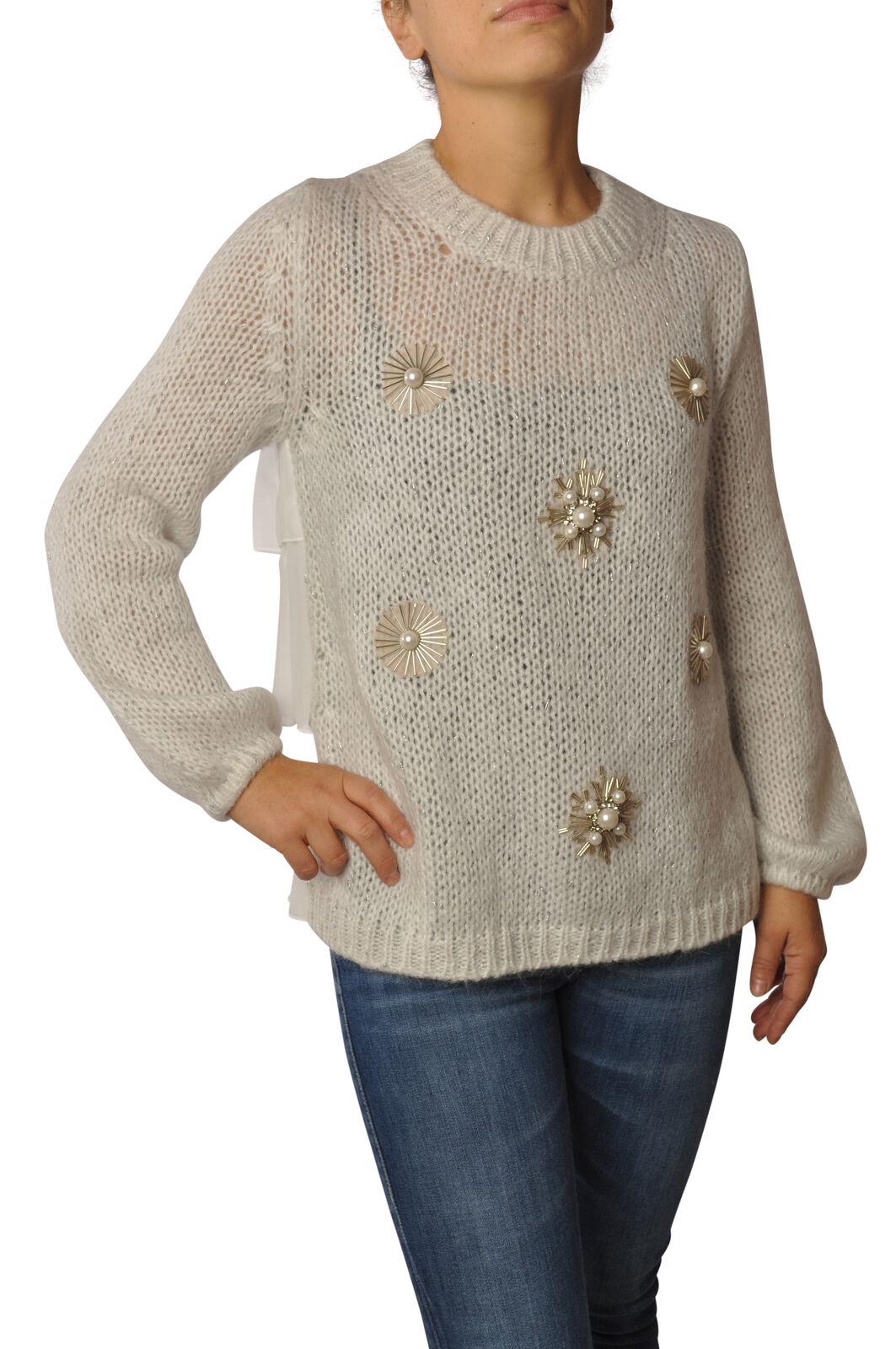 Ki 6 - Knitwear-Sweaters - Woman - Weiß - 5640809C191732