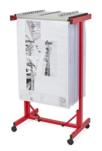 AdirOffice Red Expandable Mobile Plan Center for Blueprints