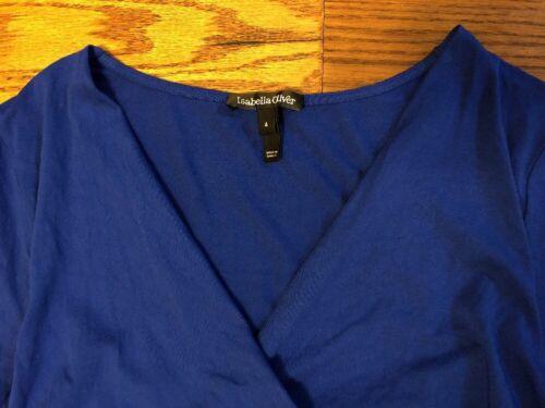Isabella Oliver Nursing us Maternity Crossover Dress 10 4 Size Jersey Blue rrqdB