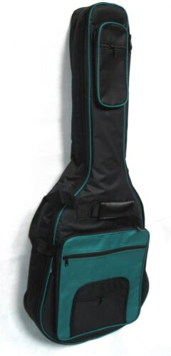 Gig Bag Western-//Roundback//Akustik Gitarrentasche gepolstert 15mm türkis,GB32