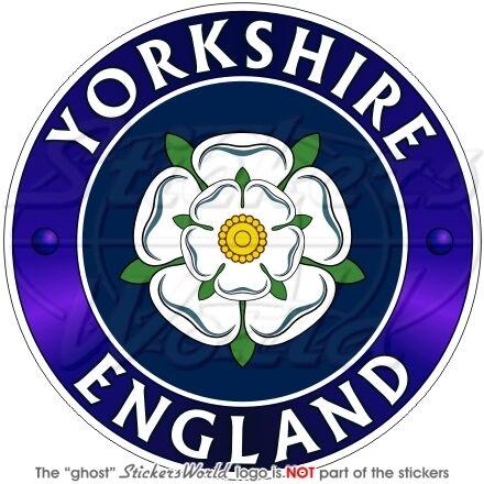 """YORKSHIRE Inghilterra UK 100mm 4/"""" Adesivo in Vinile per Auto-Casco Sticker"""
