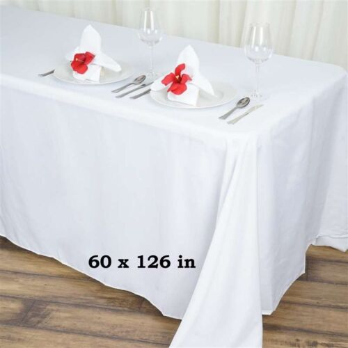 "10 pack 60""x 126"" Rectangle Linen Tablecloth Great Weddings. Choose Your Color"