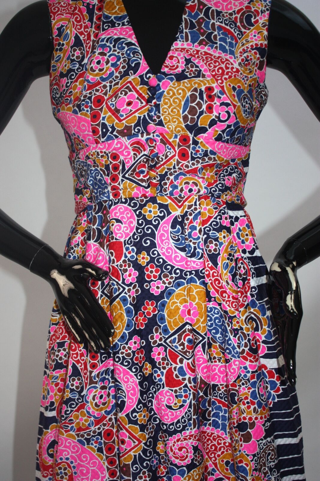 Vintage 1970s Psychedelic print maxi dress - image 3