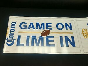 NEW-20-039-Corona-034-Game-On-Lime-In-034-Decorative-Roll-Beer-Banner-Extra-Football-NFL