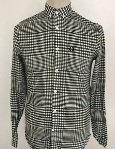 FRED-PERRY-Mens-Check-Shirt-Size-XS