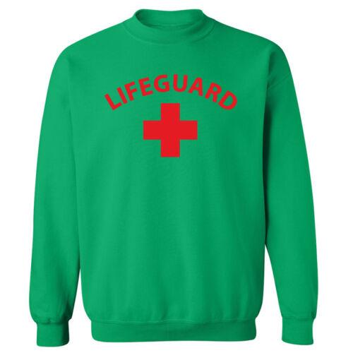 Lifeguard Swimming Slogan Beach Unisex Sweater Sweatshirt Jumper NEW