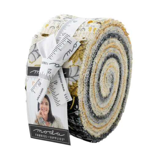 40 strips of 2.5 ins Moda Fabric Jelly Roll Bee Grateful by Deb Strain
