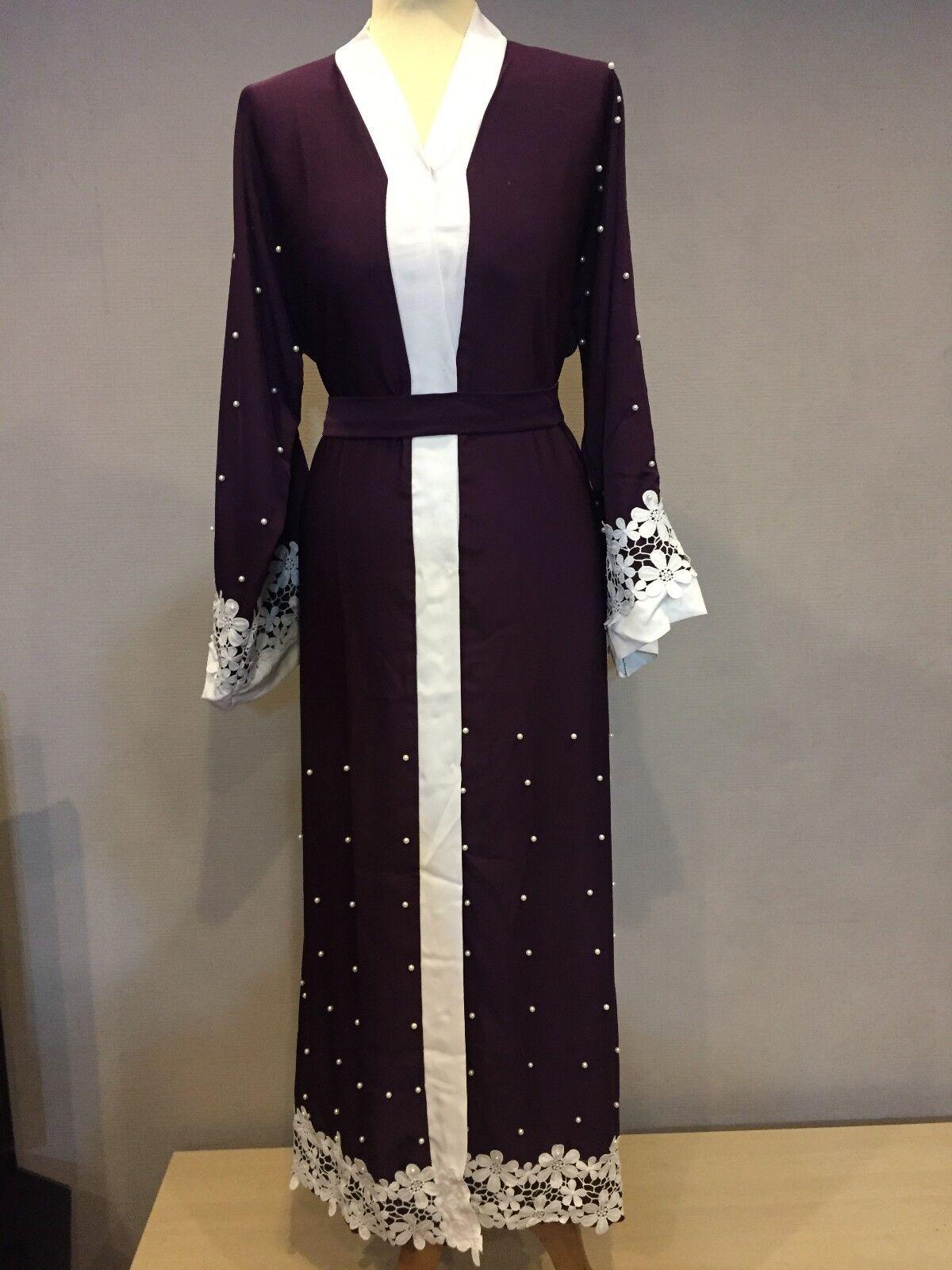 Donne Ragazze Ragazze Ragazze Abaya GIUBA Kimono Kaftano caftano maxi Caftano Burka Dubai SA03 NUOVO 643b37