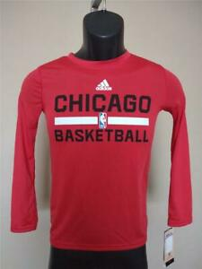 New Minor Flaw Chicago Bulls Youth Sizes S-M Red Adidas Climalite Shirt
