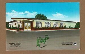 Details About Muskogee Ok Oklahoma Kay S Fine Foods Restaurant Lloyd Kay Owner