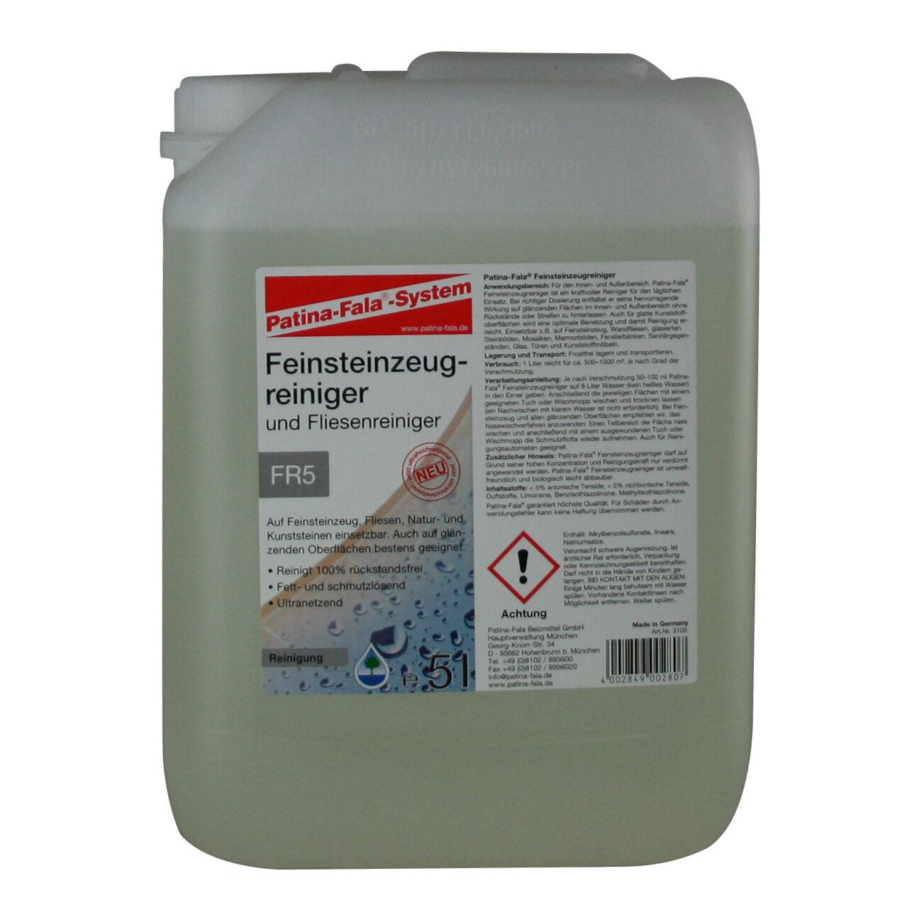 Patina Fala FR5 5L Feinsteinzeug-  Fliesenreiniger Fett- schmutzlösend 5 Liter