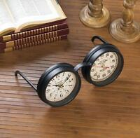 Vintage Style Steampunk Glasses Clock Seconds Timer Mantel Tabletop Desk Statue