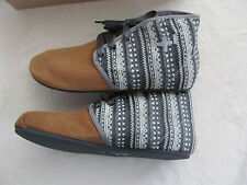 Otz Shoes Bottine Lace Boots-Suede & Fabric-Latte Women's Size 12 -New in Box