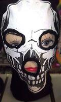 Beanie Full Face Smiling Skeleton Skull Face Mask Costume Halloween Attire-new