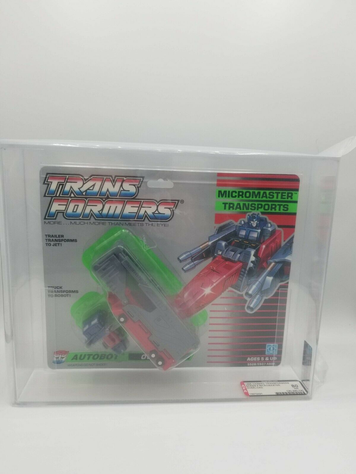 Transformers Overload Generation 1 Micromaster Transports AFA Graded 80 1989