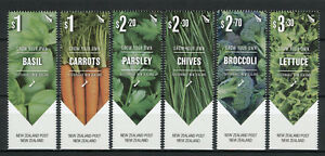 New-Zealand-NZ-2017-MNH-Grow-Your-Own-Vegetables-6v-Set-Plants-Nature-Stamps