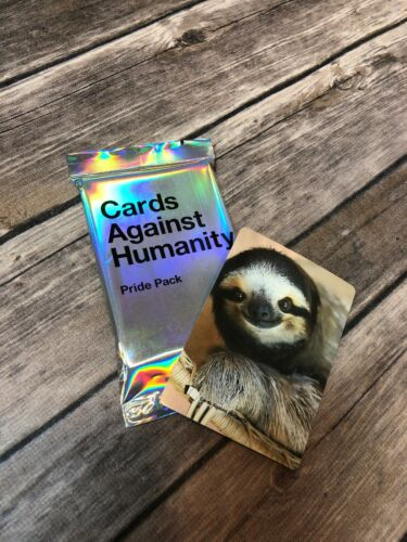 "Sloth Card ""Cards Against Humanity"" Pride Pack Expansion Pack Of 30 Cards"
