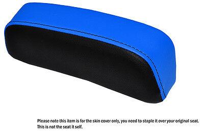 BLACK /& L BLUE CUSTOM FITS SUZUKI GSXR 750 F SLABSIDE PAD LEATHER SEAT COVER
