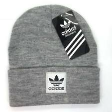 69c55ed124f Adidas Beanie Hat Winter Grey Black White Trefoil Logo Unisex One Size Free  P P