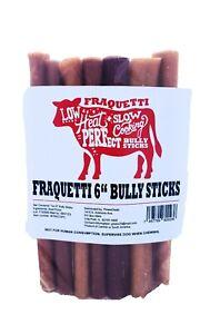"Bully Sticks 6"" Thick Premium Odor Free, Longer Lasting Dog Treats FREE SHIPPING"