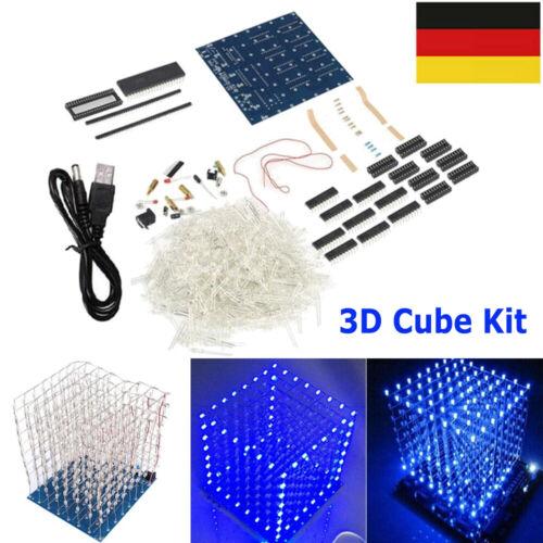 3D Cube 8x8x8 LED Lichtwürfel DIY Kit Elektronik Satz Elektronisch Würfel Lampe