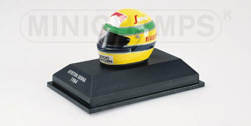 Toleman Hart 1984 Ayrton Senna Helmet Casque 1.8 replica