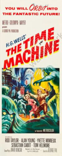 The Time Machine Movie Poster Insert 14x36 Replica