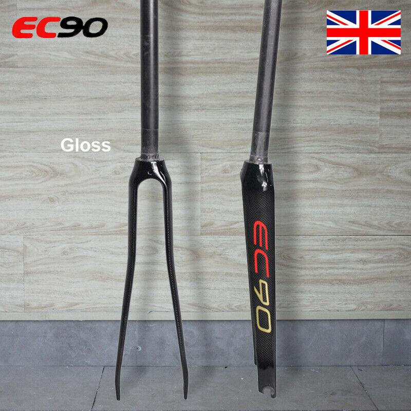 EC90 1-1 8  Road Bike Gloss Rigid Fork 700C Full Carbon Ultralight Straight Tube