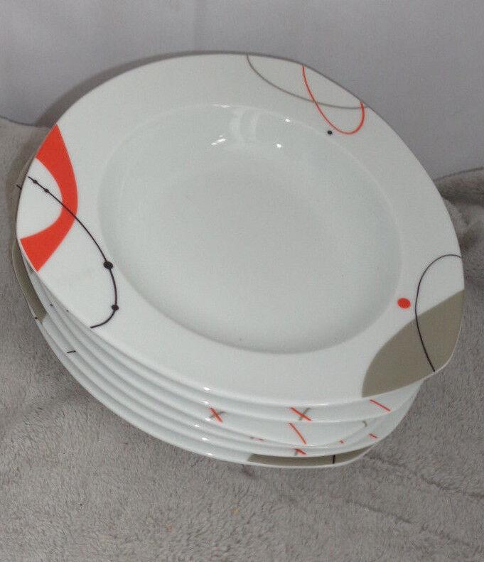 6 tiefe Teller ausgefallene Form u. Design v.Tirschenreuth v.Tirschenreuth v.Tirschenreuth Bavaria, Suppenteller | Zürich  b5cecb