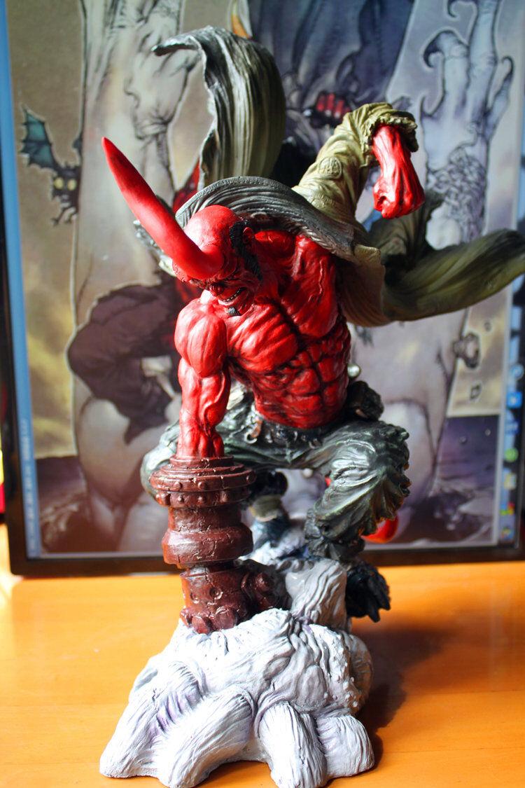 Hellboy 14 figura de lucha Estatua Pre-Pintado Juguete Coleccionables De Edición Limitada