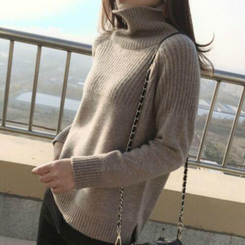 Women Sweater Jumper Turtleneck Pullover Warm Tops Long Sleeve Winter Wear Soft