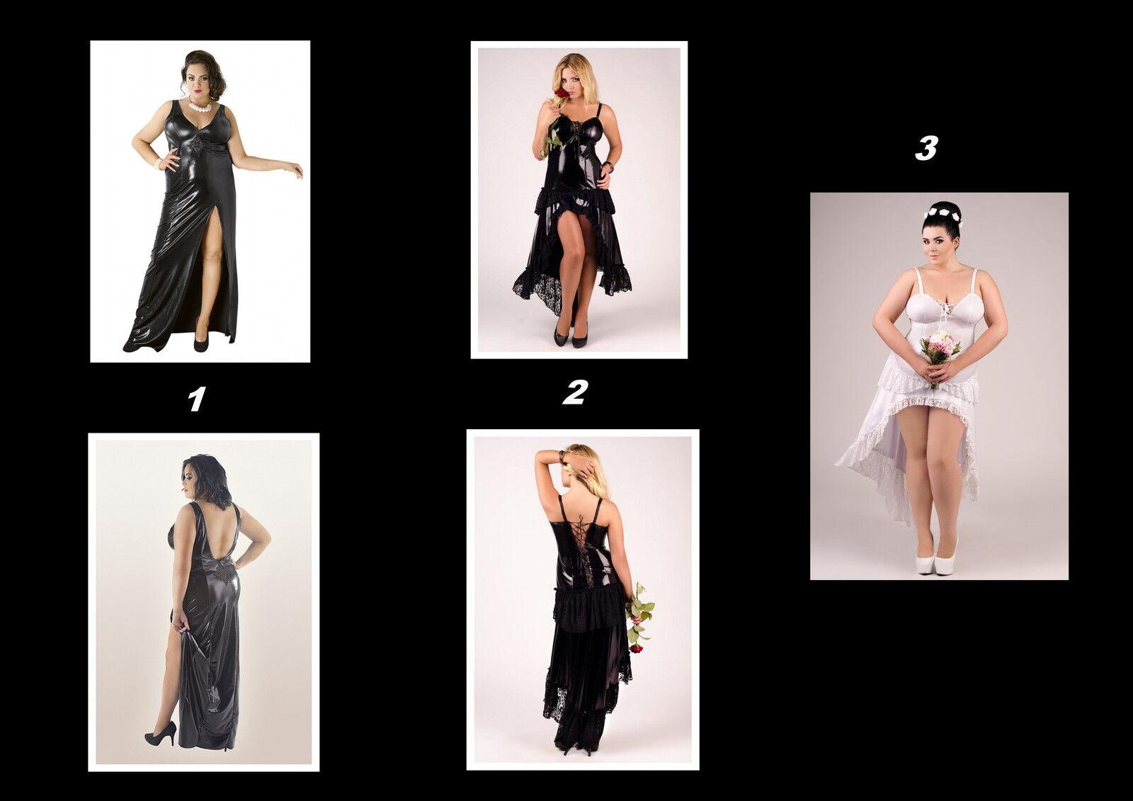 Kleid von Andalea Dessous Übergrößen schwarz weiß NEU