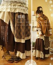 Japanese Woman Vintage Loose Lace skirts Mori Girl style Skirt Lagenlook #T-LA7