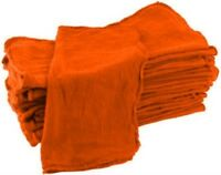 25 Pack Wholesale Deal Orange Industrial Shop Rags Towels Free Shipping on sale