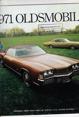 1967 OLDSMOBILE CUTLASS 4-4-2 442 TORONADO 98 88 DELTA SMALL SALES BROCHURE