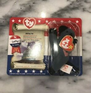 TY-LEFTY-THE-DONKEY-Toy-McDonalds-HAPPY-MEAL-TOY-Unopened-New-Rare