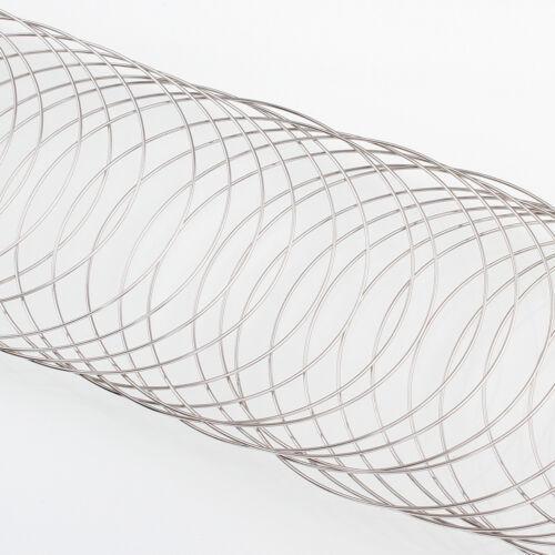 Armbänder Schmuckteile 100 Ringe Stahl MEMORY WIRE Spiraldraht 6cm M290D